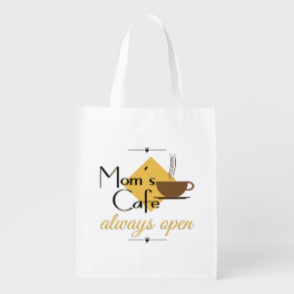 Mom's Cafe Always Open Grocery Bag