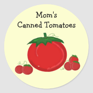 Mom's Canned Tomatoes Round Sticker