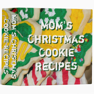 Mom's Christmas Cookie Recipes Cookies Binder