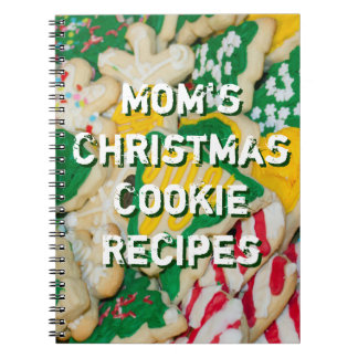 Mom's Christmas Cookie Recipes Cookies Photo Note Book