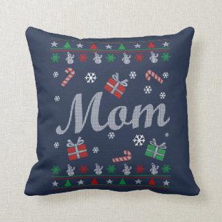 Mom's Christmas Throw Pillow