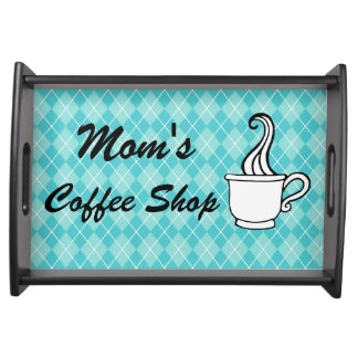 Mom's Coffee Shop Serving Snack Decor Tray Gift