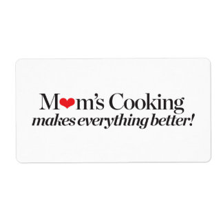 Mom's Cooking Makes Everything Better Shipping Label