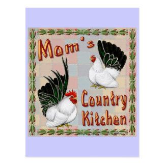 Mom's Country Kitchen Postcard