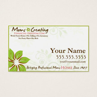 Moms Creating Financial Freedom Business Card