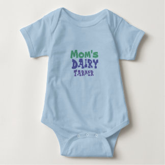 Mom's Dairy Farmer Baby Boys Outfit Baby Bodysuit