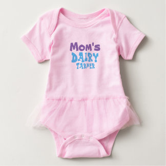 Mom's Dairy Farmer Baby Girls Tutu Outfit Baby Bodysuit