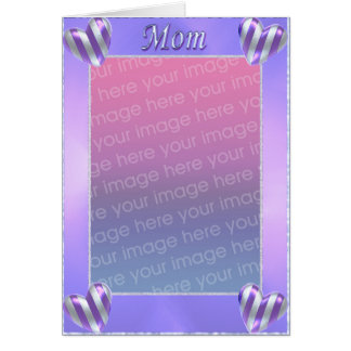 Mom's Day Striped Hearts (photo frame) Card