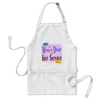 Moms Diner and Taxi Service Funny Saying Apron