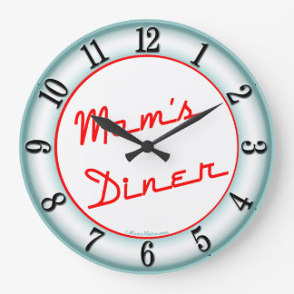 Moms Diner Retro Kitchen Wall Clock