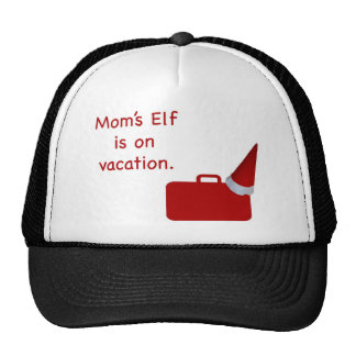 Mom's Elf is on vacation Products Mesh Hats