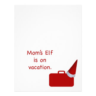 Mom's Elf is on vacation Products Personalized Letterhead