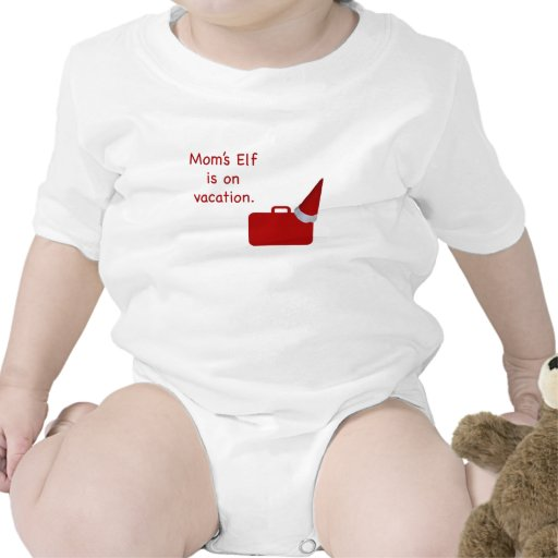 Mom's Elf is on vacation Products Baby Bodysuits