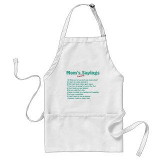 Mom's favorite sayings on gifts for her. standard apron