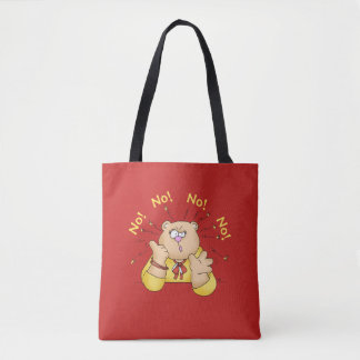 """Mom's Favorite Word """"NO"""" - Funny but true Tote Bag"""