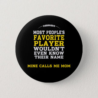 Mom's Favourite Football Player Black & Gold