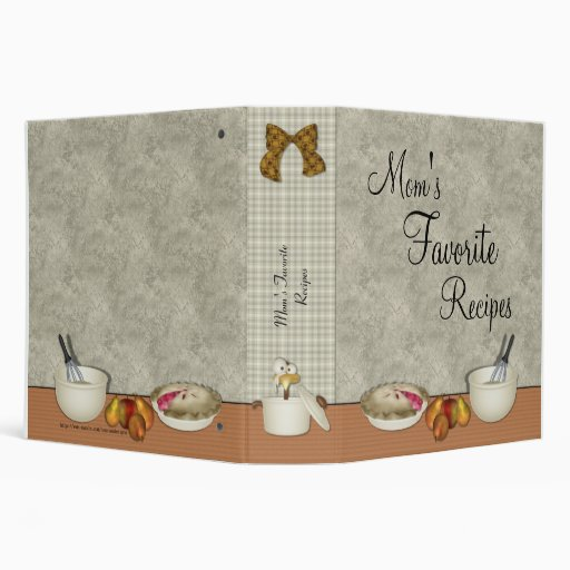 Mom's Favourite Recipes Binder