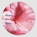 Moms for a Cure! Pink Rhodies Flowers stickers