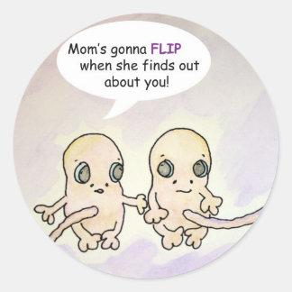 Mom's Gonna Flip Twin Stickers