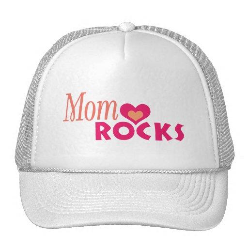 Moms Heart Rocks Hat