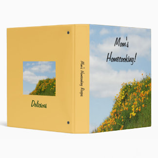 Mom's Homecooking recipe Book binder Blue Sky