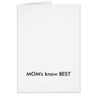 MOM's know BEST Cards