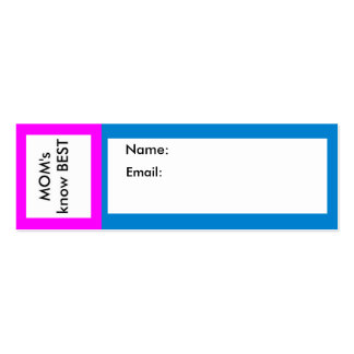 MOM's know Best jGibney The MUSEUM Business Card Template