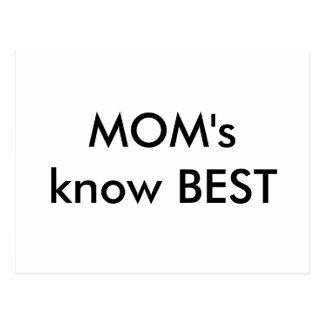 MOM's know BEST Postcard