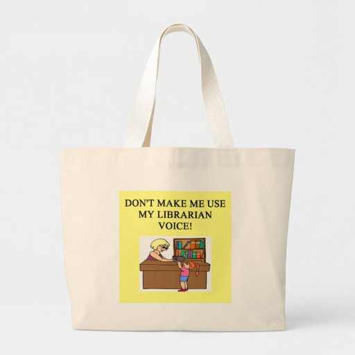mom's librarian voice tote bags