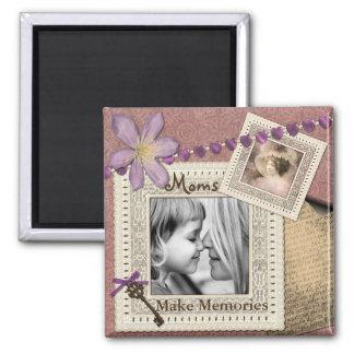 """Moms Make Memories"" Add Photo Magnet"