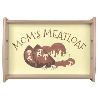 Mom's Meatloaf Home Cooking Mashed Potatoes Gravy Serving Tray