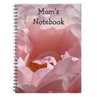 Mom's Notebook Custom PINK ROSE Flower gifts