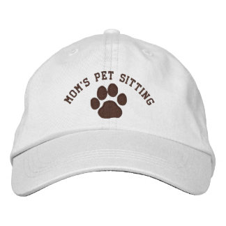 Mom's Pet Sitting Embroidered Hat