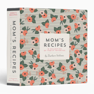 Mom's Recipe Binder - Vintage Floral