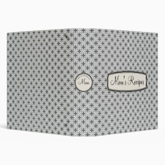 Mom's Recipe Book for Generations, Grey Lattice 3 Ring Binder