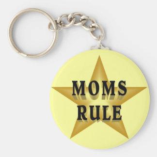 Moms Rule keychain