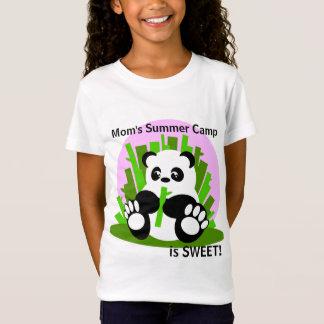 Mom's Summer Camp Panda T-Shirt