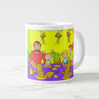 Mom's Sunday Breakfast Happy Family 20oz Jumbo Mug