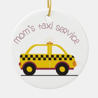 Moms Taxi Service Ceramic Ornament