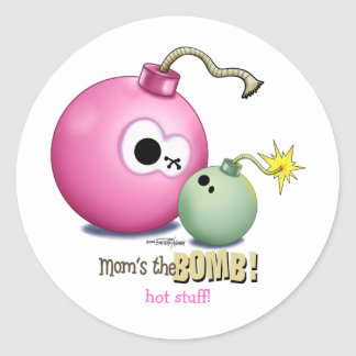Moms the Bomb Classic Round Sticker