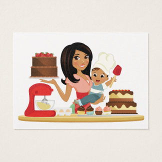 Mom's Treats / Cupcake / Bakery Business Business Card
