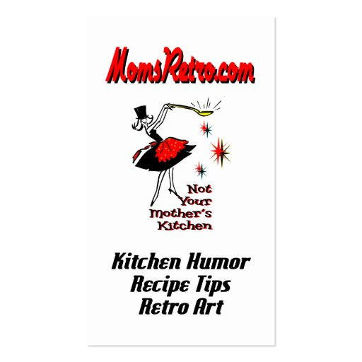 MomsRetro Recipe Equivalents Custom Business Card
