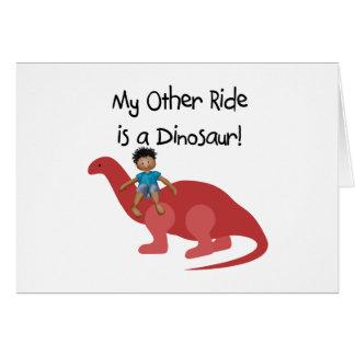 Mon autre tour est un dinosaure aa cartes de vœux