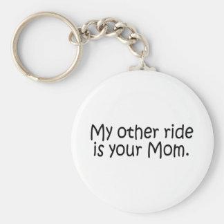 Mon autre tour est votre maman porte-clé rond