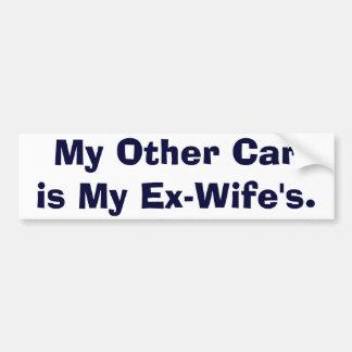 Mon autre voiture est mes Ex-Épouses Autocollant De Voiture