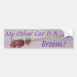 Mon autre voiture est un balai 6 - autocollant de autocollant de voiture