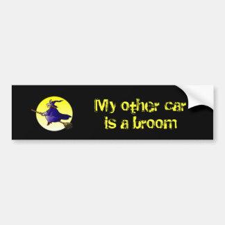 Mon autre voiture est un balai autocollants pour voiture