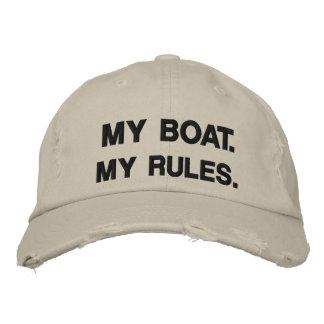 Mon bateau Mes règles - canotage drôle Casquettes Brodées