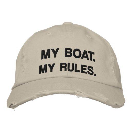 Mon bateau. Mes règles - canotage drôle Casquettes Brodées