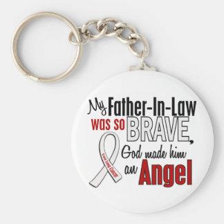 Mon beau-père est un cancer de poumon d'ange porte-clé rond